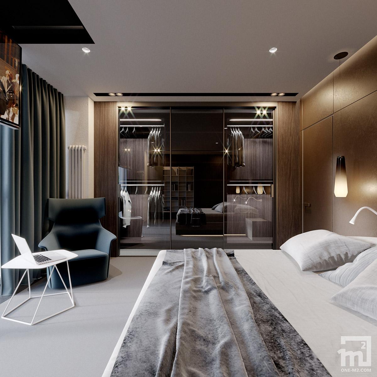 反光表面增加空间感:乌克兰190平米现代住宅设计
