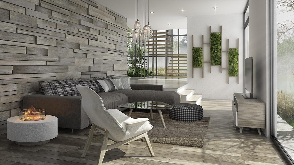 51个现代魅力的起居室设计