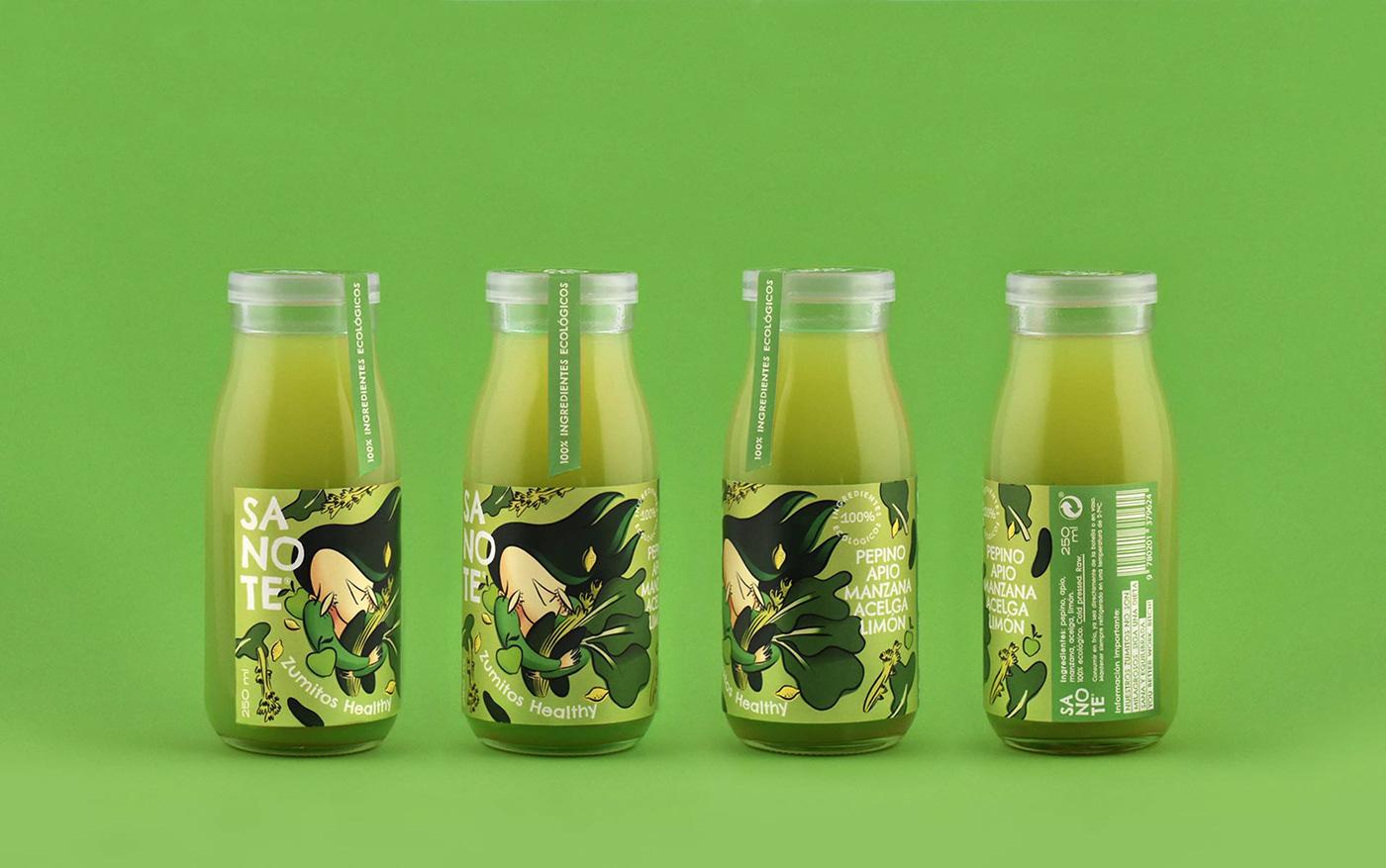 Sanote Zumitos Healthy健康果汁包装设计