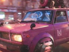 Russia 2077:塞博朋克(Cyberpunk)风格插画作品