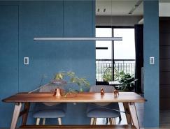 台北优雅的蓝色风情家居装修设计