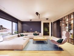 波兰124平米现代时尚住宅设计