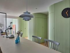 绿色曲面墙:充满活力和生机的韩国现代公寓设