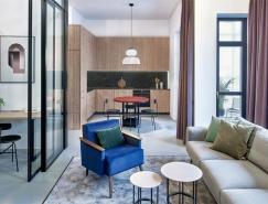 浓烈的色彩 富有表现力的99平米时尚公寓设计