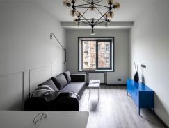 简洁优雅的乌克兰小户型公寓设计