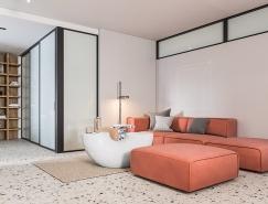 清新的色彩搭配:现代时尚的开放式家居空间设计