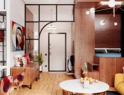 高端華麗的一居室公寓裝修設計