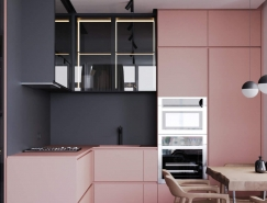 淡粉色+灰色 法国86平米简约公寓皇冠新2网