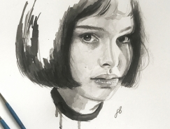 Freya Betts电影海报和明星肖像插画作品