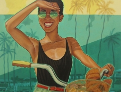 夏威夷的夏天:Kate Wadsworth插画作品欣赏