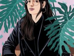 Bijou Karman女性人物插画作品