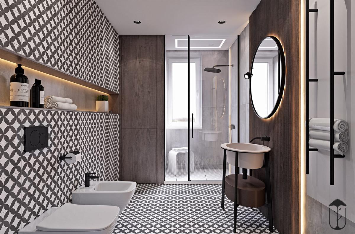 极简主义遇到摩洛哥风格:159平米二层住宅空间设计