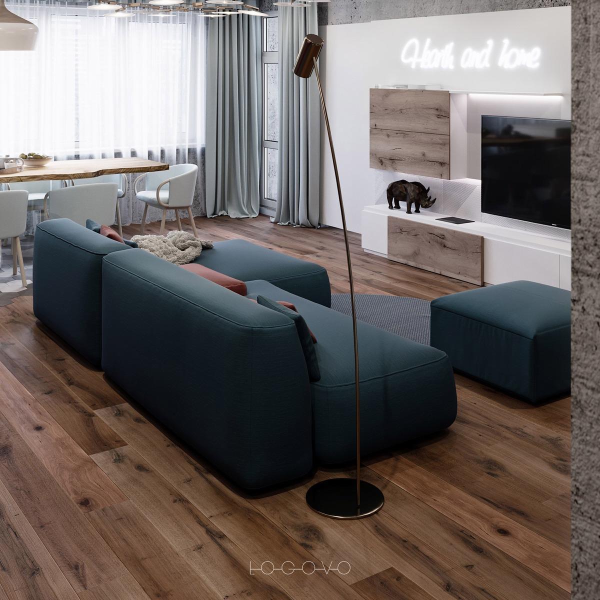 散发出舒适和温暖的精致小公寓设计