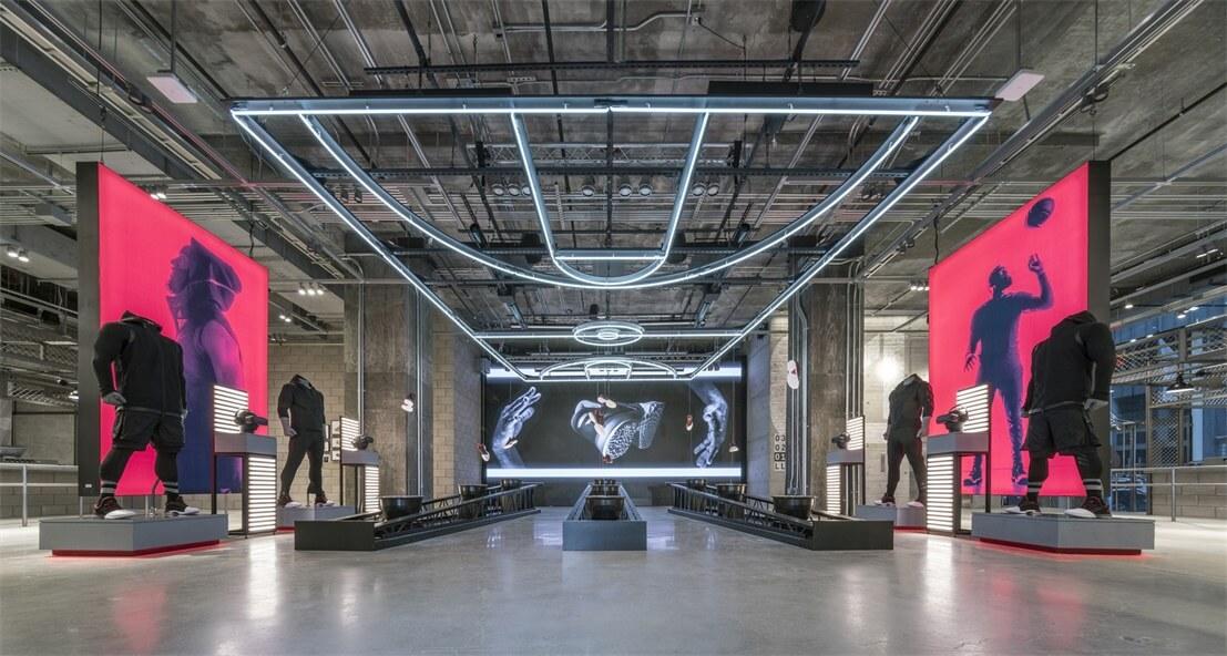 体育场概念的阿迪达斯纽约旗舰店设计