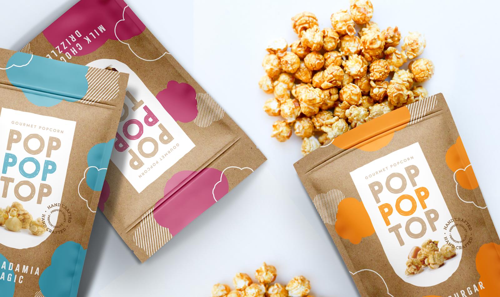 Pop Pop Top爆米花包装设计