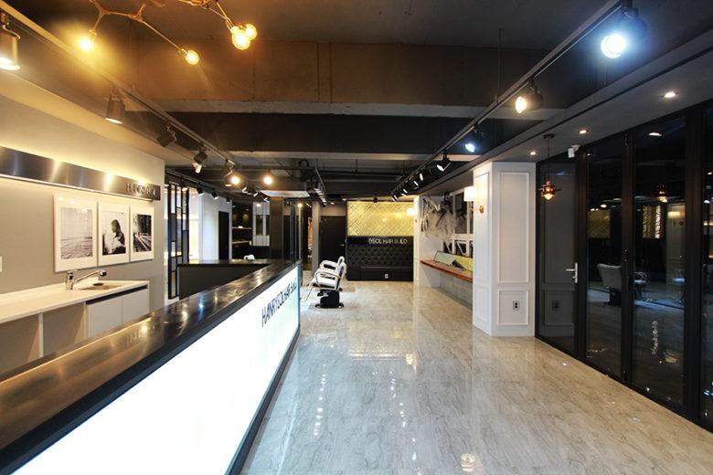 韩国现代概念美发沙龙空间设计