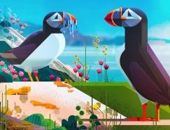 """James Gilleard:""""拯救物种""""图书动物插图设计"""