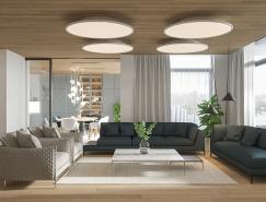木质元素的清新时尚公寓设计
