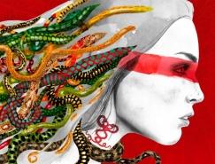 Sandra Lorenzo素描+彩绘人物插画作品