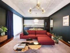 大胆的色彩和简洁北欧风格的现代公寓,体育投注