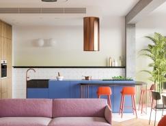 跳跃的色彩:明斯克100平米温馨公寓设计