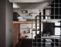 满足多元的生活型态,台北47平米现代LOFT小宅