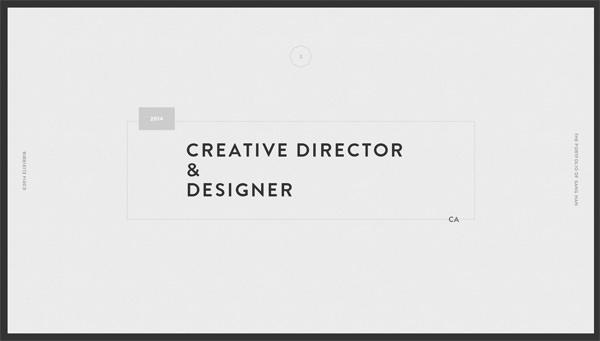 20个极简风格的设计师网站设计