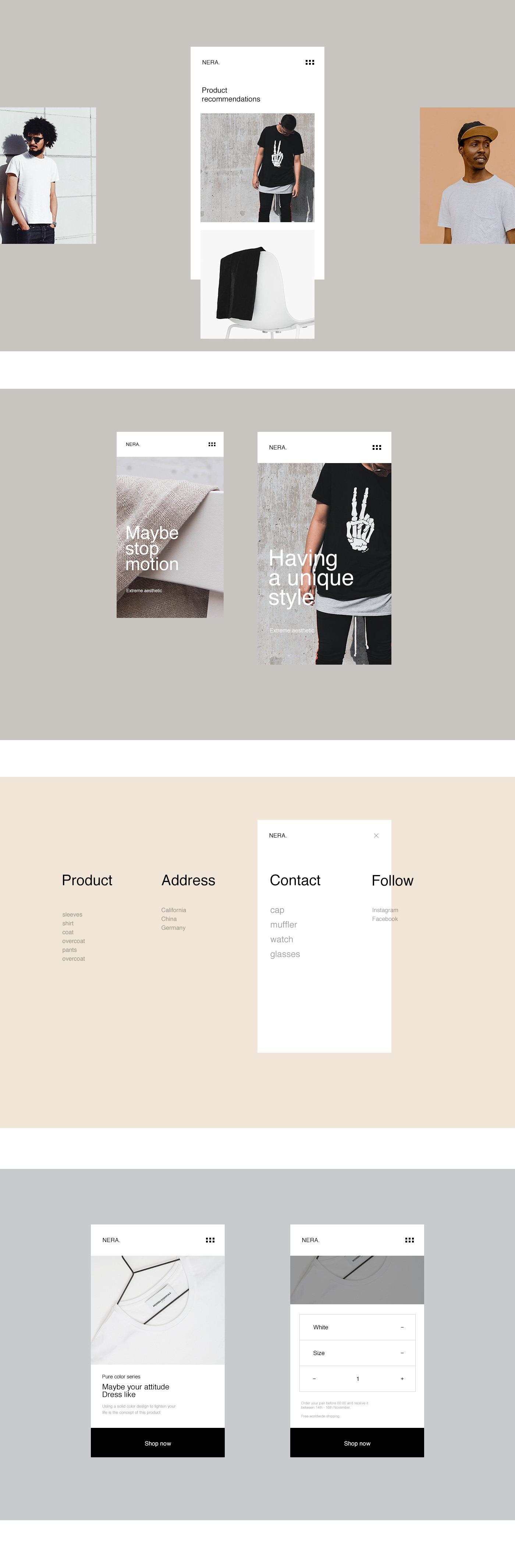 NERA.极简主义风格网站设计