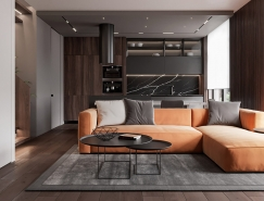 大气的深色和精致的色调:145平米顶层住宅澳门金沙网址