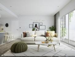 2个斯堪的纳维亚风格公寓装修设计