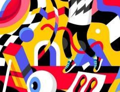 David Oku抽象风格的字母插画,体育投注