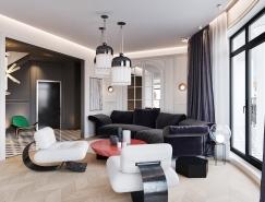 清新或华丽:一套住宅的两种设计方案