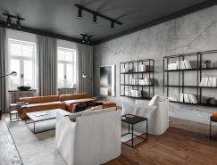 2个精致的工业风格住宅装修设计