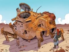Cameron Sewell机器人概念插画设计