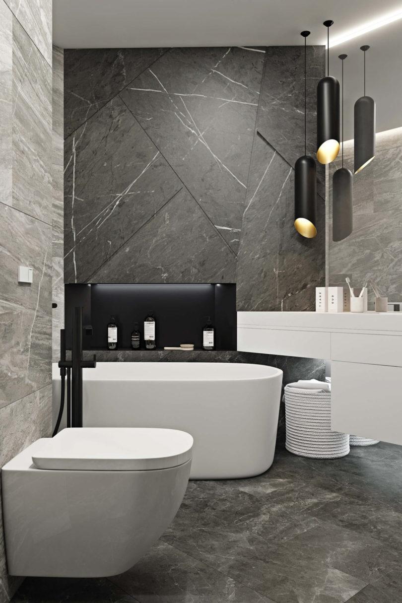 莫斯科极简主义71平米酷感现代公寓设计
