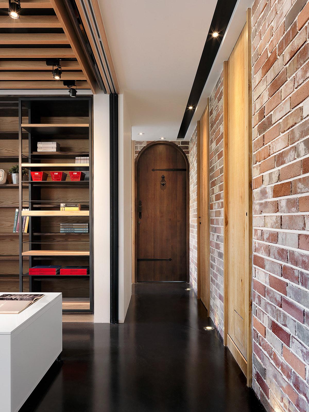 工业风格的时尚现代公寓设计