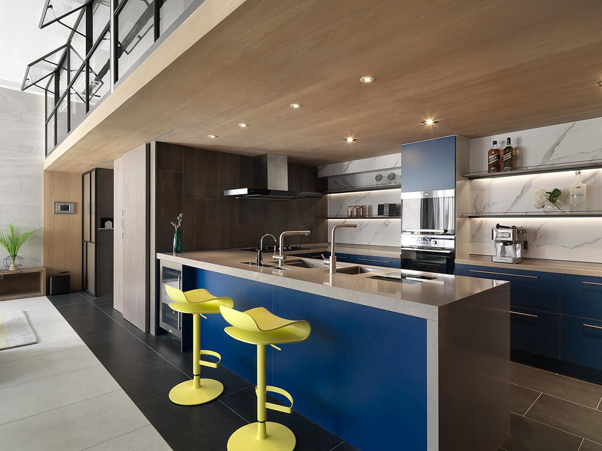 2个精致典雅的蓝色系家居装修设计福建hwgion景观设计事务所图片