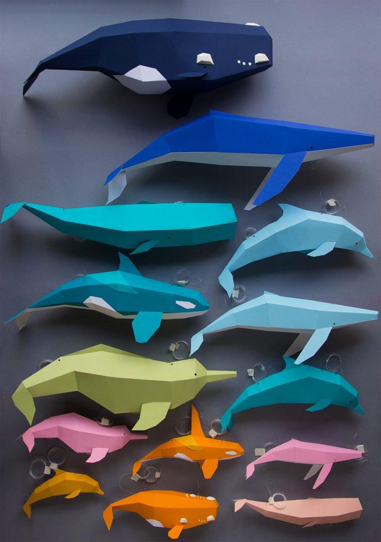 资讯_鲸鱼和海豚为主题的纸艺术品创作-设计之家
