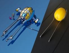 生活物品变成宇宙飞船 Eric Geusz科幻概念插画作品