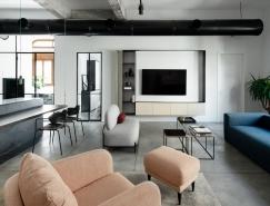 以色列AX3极简主义公寓设计