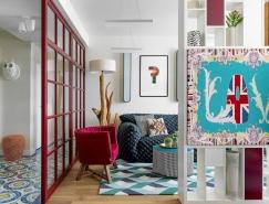 多彩的配色打造充满活力的现代家居