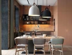 基辅现代精致的住宅装修设计