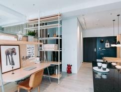台湾46平米开放式空间小公寓设计
