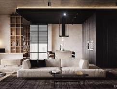 时尚酷黑风格住宅装修设计