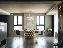 岁月鎏金,经典绒颜:现代风格住宅装修设计