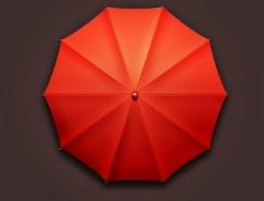 Photoshop制作漂亮的红伞图标
