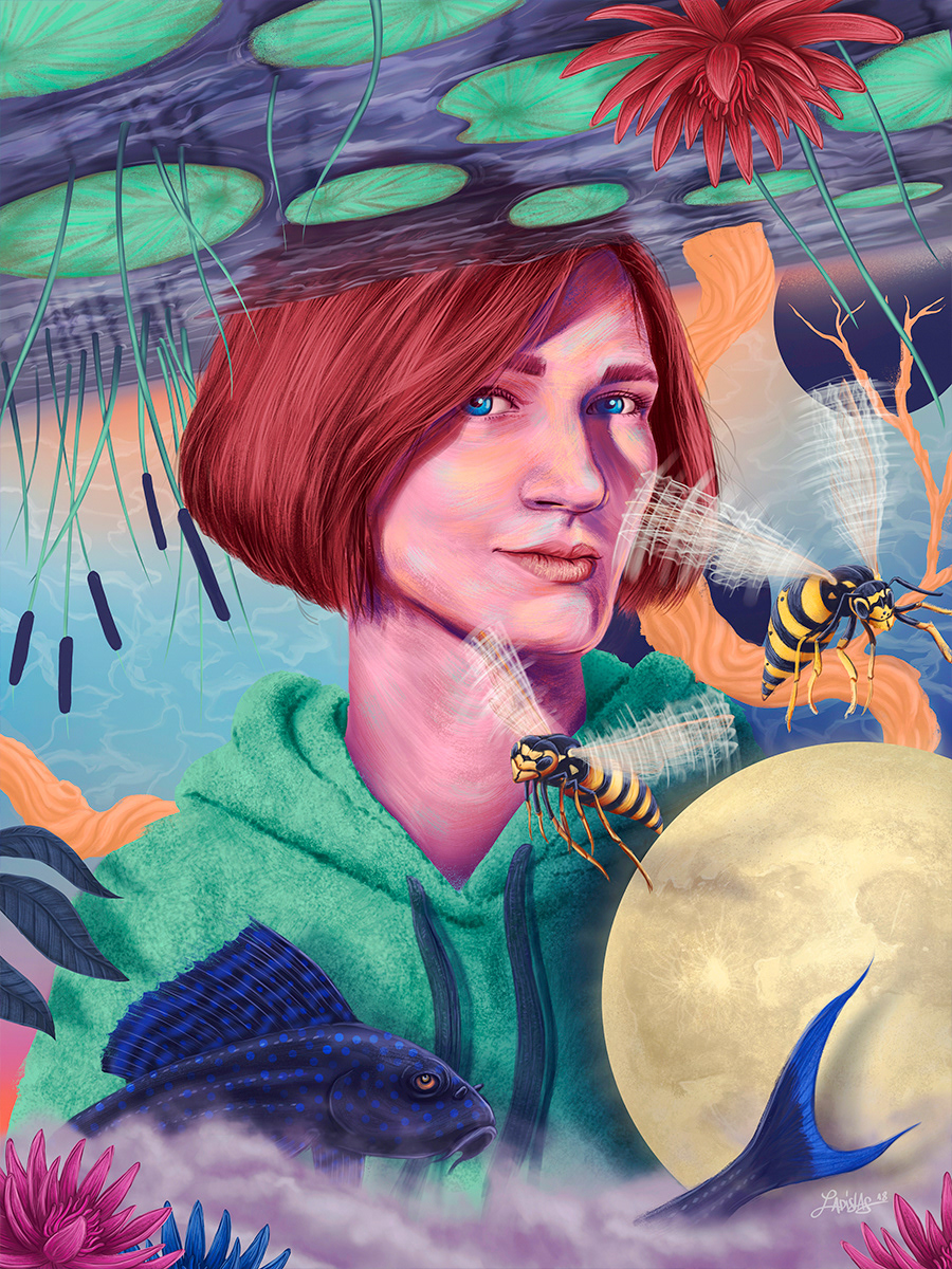 Ladislas Chachignot丛林风格人物肖像插画