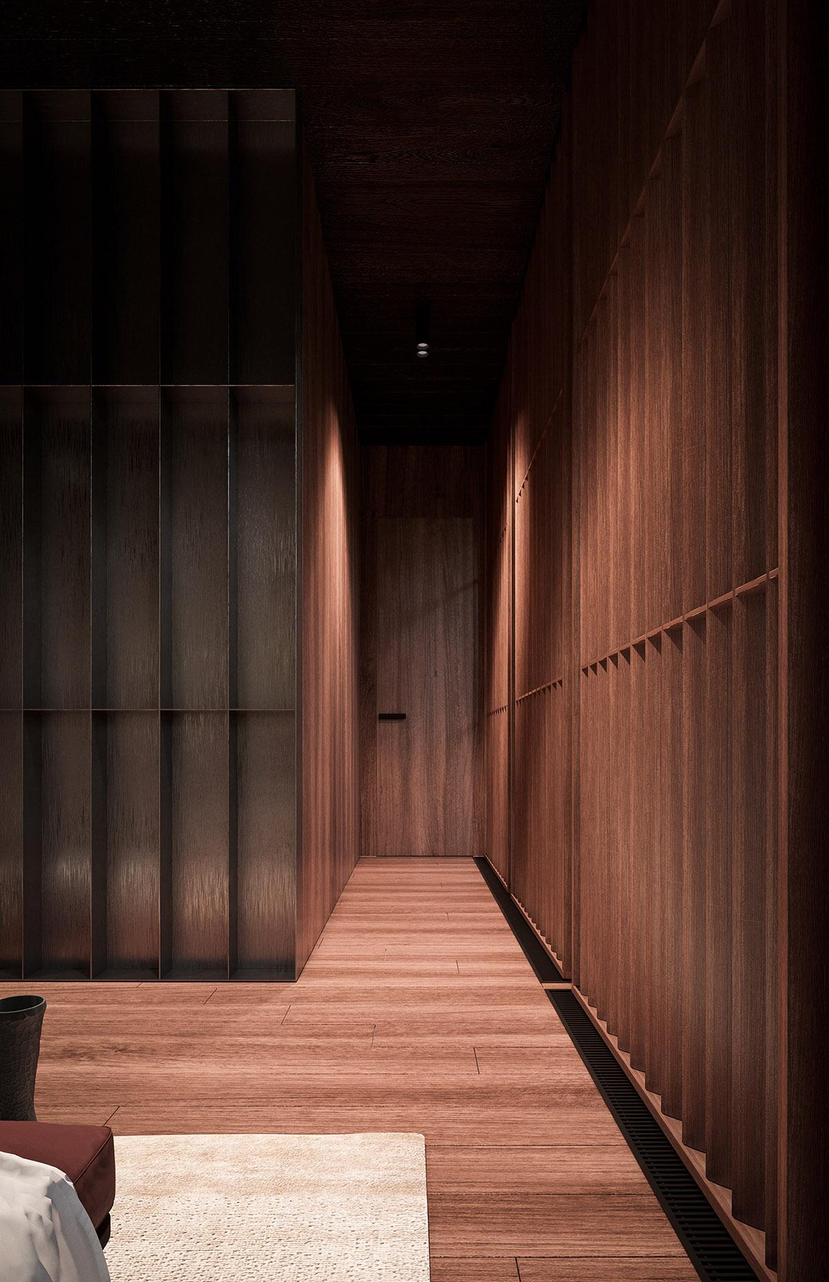 豪华沉稳的林中住宅空间设计