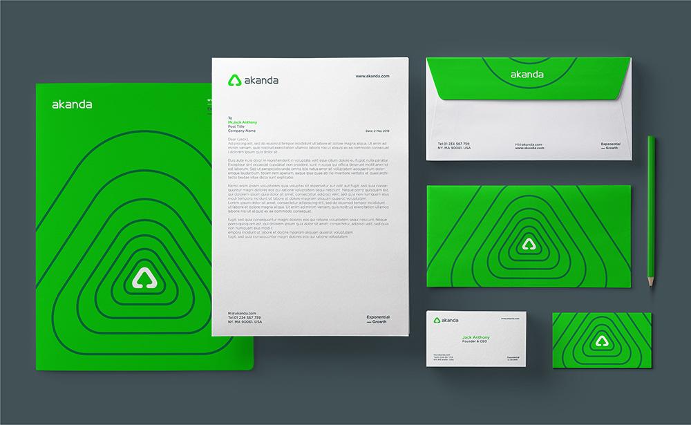 Akanda品牌VI设计欣赏