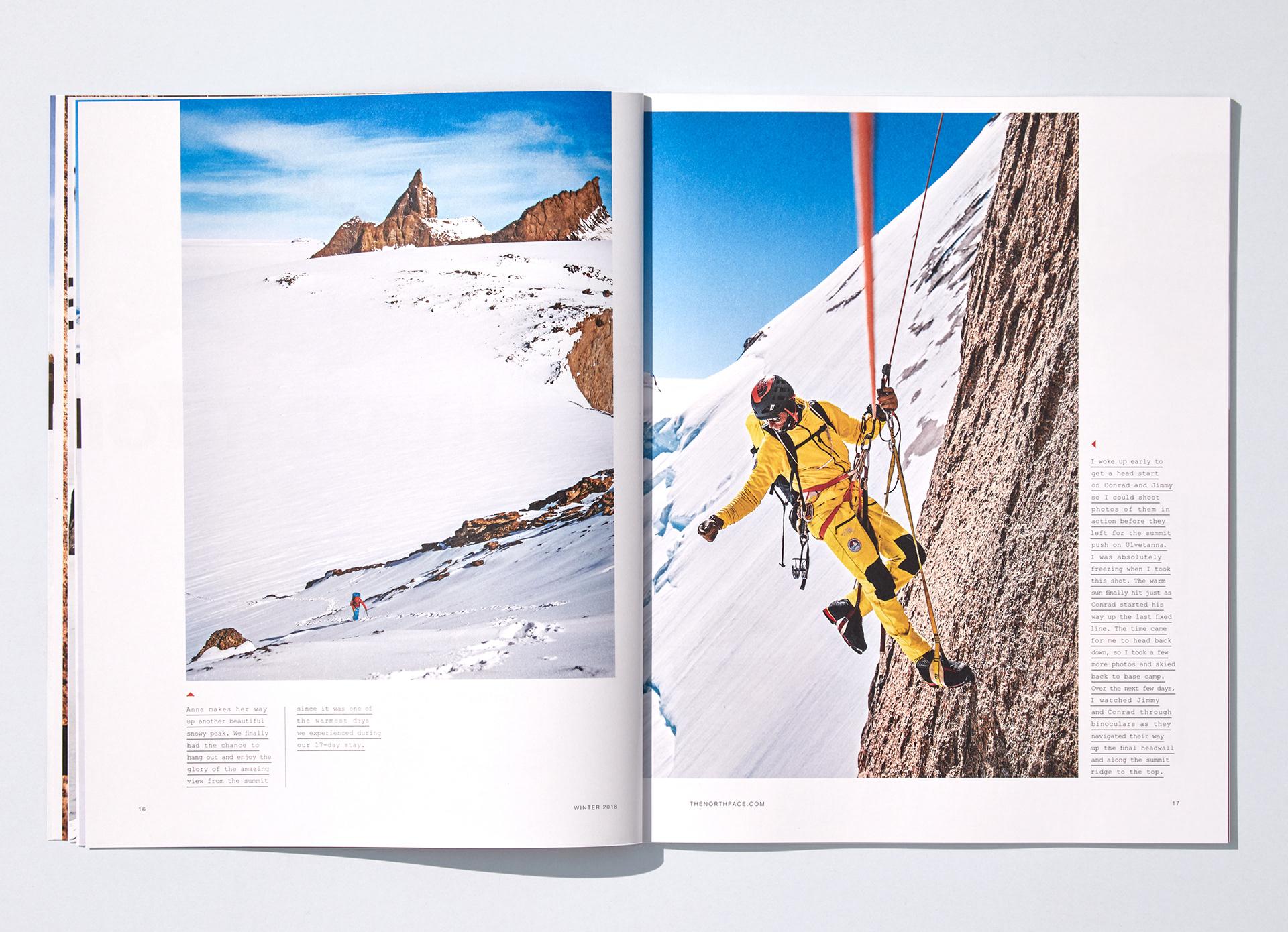the North Face 2018冬季型录画册设计